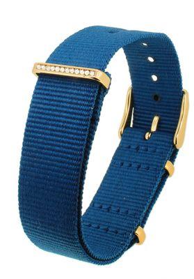 Timex Weekender → Durchzugsband 18mm Natoband Textil blau → TW2R49300 – Bild 1