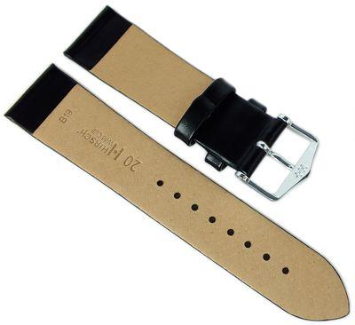 HIRSCH Uhrenarmband   Leder > Seidenglanz > schwarz   Wild Calf M – Bild 4