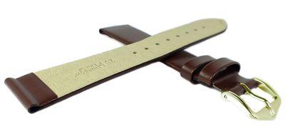 HIRSCH Uhrenarmband | Leder > Seidenglanz > braun | Wild Calf L – Bild 4