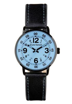 Bruno Banani Moros → Herrenuhr Armbanduhr Lederband schwarz → BR30015