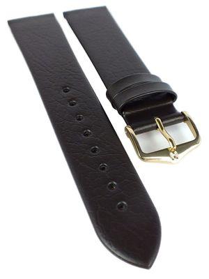 HIRSCH Uhrenarmband | Leder > genarbt ohne Naht > braun | Calf L – Bild 1