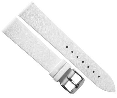 Minott | Uhrenarmband weiches Leder weiß glatt flach ohne Naht