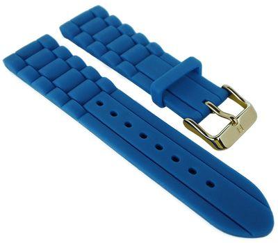 HIRSCH Uhrenarmband | Silikonband mit Dornschließe > blau | Jelly – Bild 1