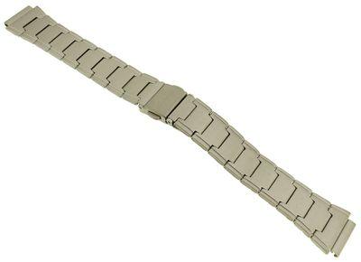 Casio Uhrenarmband   Ersatzband aus Edelstahl silbern matt für LW-200D – Bild 1
