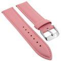 Minott > Uhrenarmband rosa > Band mit Naht > weiches glattes Leder