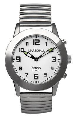 Marschall ■ TALKING WATCH > Herrenuhr Ø 43mm | Touch-Screen, Zugband