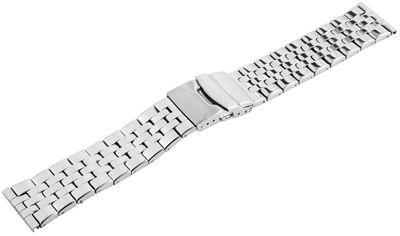 Minott | Uhrenarmband silberfarben Ersatzband | Edelstahl glänzend  – Bild 2