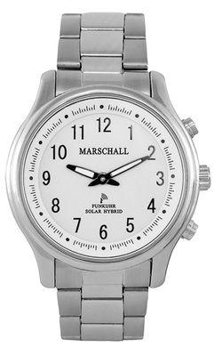 Marschall ☼ TALKING WATCH > Unisexuhr Ø41mm | Hybrid Solar | Edelstahl