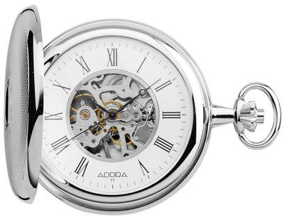 ADORA 〄 Taschenuhr > Mechanisch > Wappen > Skelettuhr Ø 51mm   TU9025