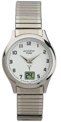 Adora Funk > Damenuhr Armbanduhr Ø 29mm silbern Analog 5 BAR > Zugband