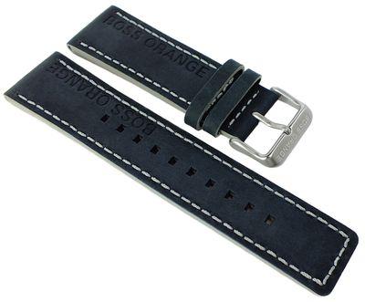 Hugo Boss Orange > Uhrenarmband 24mm > Leder schwarz > 1513228 – Bild 1