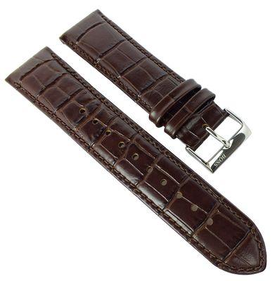 Hugo Boss 1513022 | Uhrenarmband braun 22mm Leder Kroko-Optik 1513021 – Bild 1