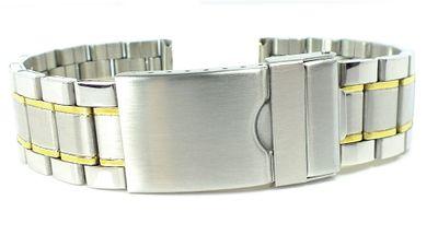 Minott > Uhrenarmband Gliederarmband bicolor > Edelstahlband  – Bild 1
