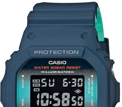 Casio G-Shock Herrenuhr | Digitaluhr Resin blau DW-5600CC-2ER – Bild 2