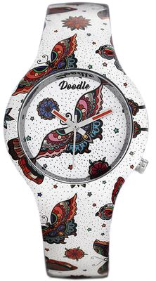 DOODLE WATCH Armbanduhr Nature Mood Ø 35mm Silikon mehrfarbig DO35010 – Bild 1