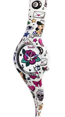 DOODLE WATCH Armbanduhr Americans Mood Ø 35mm Analog Silikon > DO35001 – Bild 2
