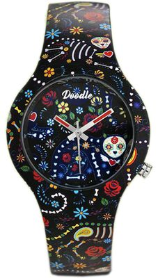 DOODLE WATCH Armbanduhr Santa Muerte Mood Ø 35mm Silikonband DO35014 – Bild 1