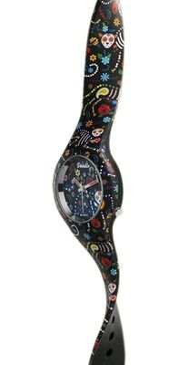 DOODLE WATCH Armbanduhr Santa Muerte Mood Ø 35mm Silikonband DO35014 – Bild 2
