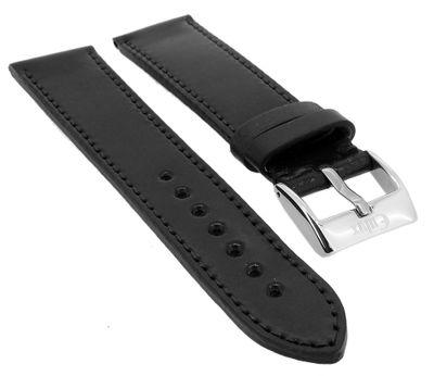 Eulux Shell Cordovan Uhrenarmband Pferdeleder schwarz wasserabweisend – Bild 1