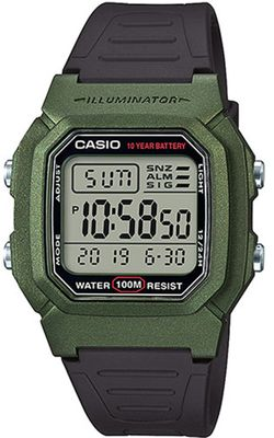 Casio Collection Digital  Herrenuhr Resin mit LED Light W-800HM-3AVEF – Bild 1