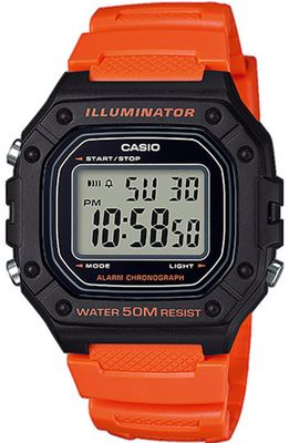 Casio Collection Digital Herrenuhr Resin mit LED Light W-218H-4B2VEF – Bild 1