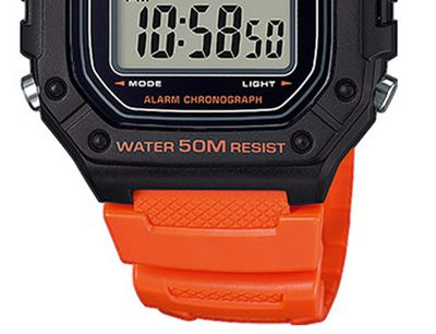 Casio Collection Digital Herrenuhr Resin mit LED Light W-218H-4B2VEF – Bild 3