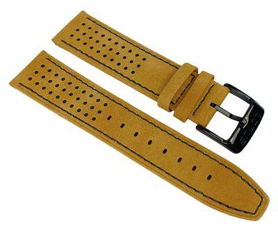 Lotus Watches → Uhrenarmband 22mm braunes Lederband → 18567 18567/2 – Bild 1