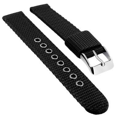 Adora Youngline Kinder Uhrenarmband 16mm Textil schwarz AY4335