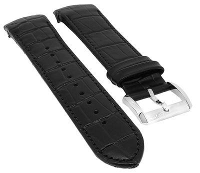 Hugo Boss 1513367 | Uhrenarmband Leder Kroko-Optik schwarz  – Bild 1