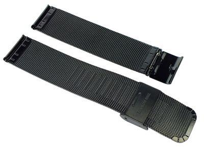 Minott > Uhrenarmband Edelstahl Milanaise schwarz Edelstahlband – Bild 2