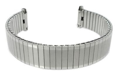 Minott Uhrenarmband > Zugband silbern > Teleskopanstoß 11mm - 14mm – Bild 1
