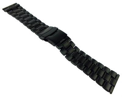 Minott > Uhrenarmband massives Edelstahlband > Edelstahl schwarz – Bild 2