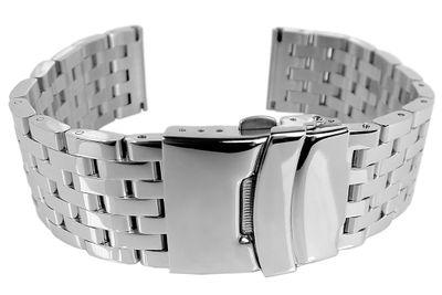 Minott Uhrenarmband 20mm | Edelstahlband massiv | Faltschließe  – Bild 3