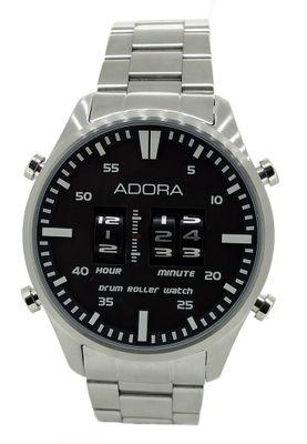 ADORA | DRUM ROLLER > Herren Armbanduhr Ø 44mm | Edelstahlband – Bild 2