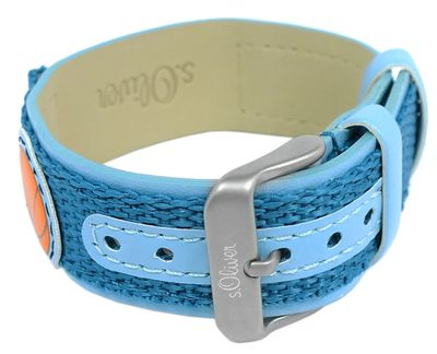 s.Oliver Unterlagenband Band 16mm blaues Band Materialmix SO-1821-LQ – Bild 3