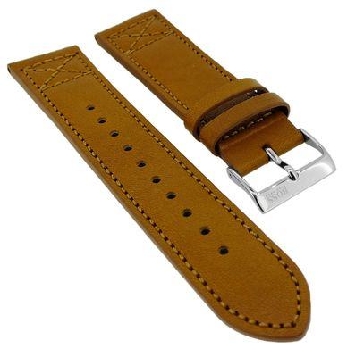 Hugo Boss Black > Uhrenarmband 22mm Leder braun > 1513668  – Bild 1