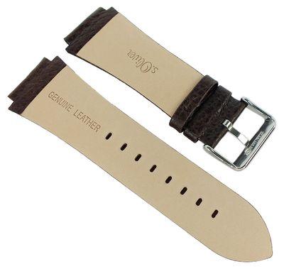 s.Oliver → Uhrenarmband braunes Lederband genarbt → SO-2025-LQ – Bild 2