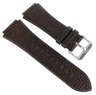 s.Oliver → Uhrenarmband braunes Lederband genarbt → SO-2025-LQ – Bild 1