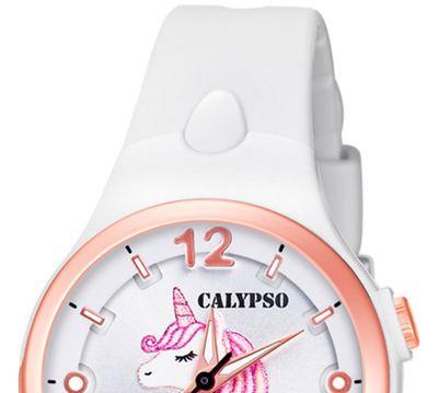 Calypso Kinderuhr | weiß analog Kunststoff | Motiv Einhorn | K5783/1 – Bild 3