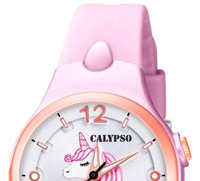 Calypso Kinderuhr | rosa analog Kunststoff | Motiv Einhorn | K5783/2 – Bild 3