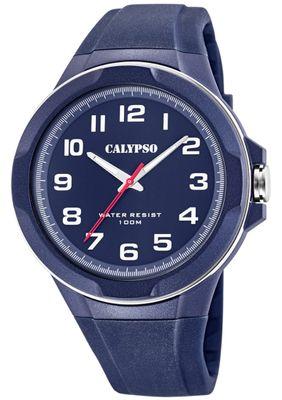 Calypso Armbanduhr Herren ⇒ blaue Analoguhr Quarz Kunststoff ⇒ K5781/3