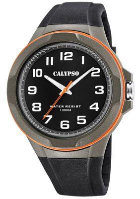 Calypso Armbanduhr Herren analog mehrfarbig Quarzuhr Kunststoff K5781