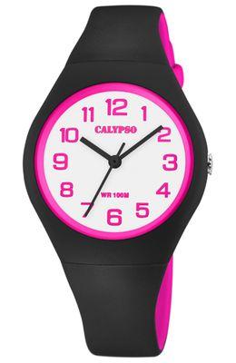 Calypso > Armbanduhr Kinder analog schwarz / pink Kunststoff > K5777/8 – Bild 1