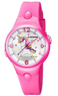 Calypso > Armbanduhr Kinder analog Quarz pink Kunststoffband > K5784/2