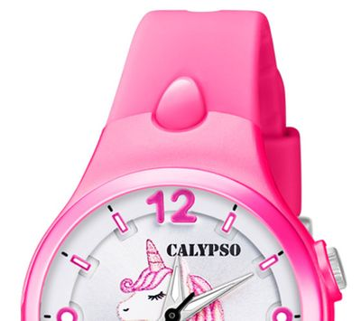 Calypso Kinderuhr | pink analog Kunststoff | Motiv Einhorn | K5783/6 – Bild 3
