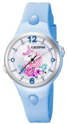 Calypso Kinderuhr | blau analog Kunststoff | Motiv Einhorn | K5783/5 – Bild 1