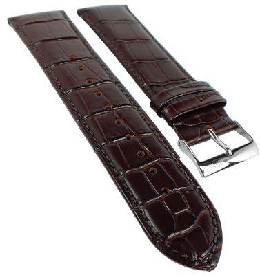 Hugo Boss | Uhrenarmband 24mm Leder Kroko-Optik braun Naht 1513480 – Bild 1