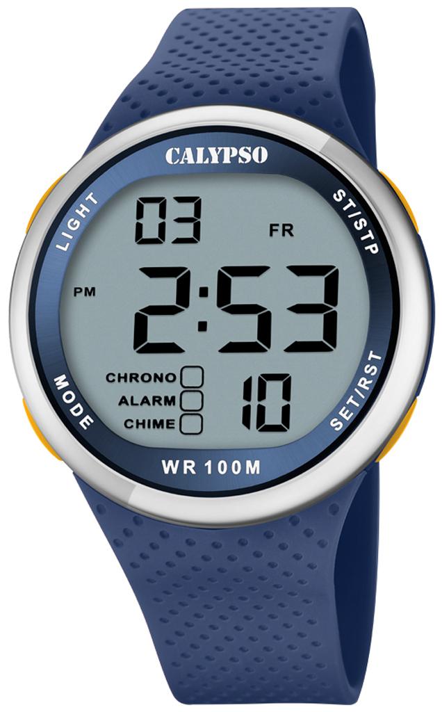 Calypso digital Armbanduhr | Gehäuse Ø 44 > 10 bar | blau