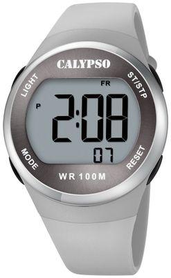 Calypso digitale Damenuhr | Gehäuse Ø 38 > 10 bar | grau K5786/1