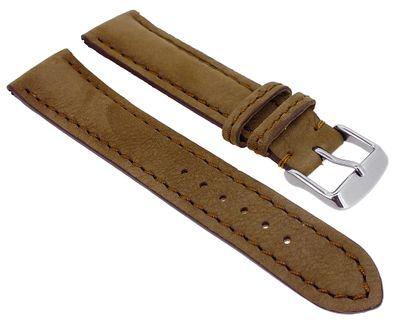 Herzog Dakota > Uhrenarmband braun > easy click > Leder gepolstert – Bild 3